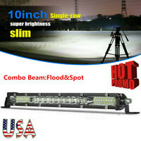 10inch LED Light Bar 78W Spot Flood Combo Work SUV Boat Driving Offroad ATV 4WD