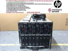 HP C7000 HP BL460c Gen8 256GB 64 núcleos D2200sb 7TB 15K SAS Storage Blade solución