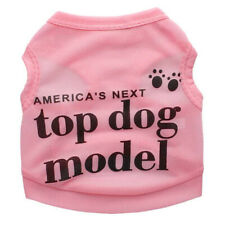 "Lovely Print ""America's Top Dog Model"" Pet Dog - SMALL Size/PINK"