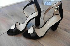 Clarks black suede high heels sandals size 7.5 worn once