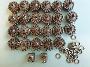 Allen Bradley 100k  type-J linear screw-slot type J, lot of 23 Plus 2 mod pots