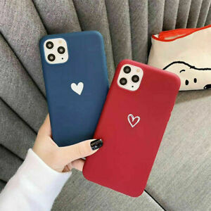 Case for iPhone 11 12 Pro Max 6 7 8 XR X XS Soft Heart Shockproof Phone Cover
