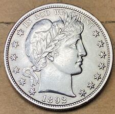 1892 Barber Half Dollar  Choice Unc  BU/MS