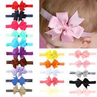 10pcs Elastic Baby Headdress Kids Hair Band Girls Bow Newborn Headband RandoHA8A