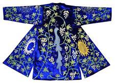 Uzbek Traditional Bukhara Robe Jacket Coat Unisex Silk Embroidery Suzani A10318