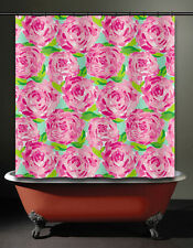 floral lilly rose Shower Curtain pulitzer prize bathroom fabric first impression