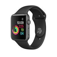 First Gen Apple Watch Sport 42mm Space Gray Aluminum Case - Black Sport Band