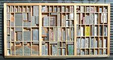 Letterpress Art Wall Hanging Vintage Type Drawer & Whittier CA USA Printing Dies