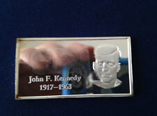 1971 Kennedy Mint John F. Kennedy KEN-12V1 Fractional Silver Art Bar P2028