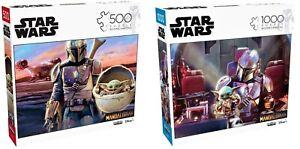 Lot of 2 Star Wars Mandalorian Child Baby Yoda Puzzle 500 & 1000 Pcs Collectible