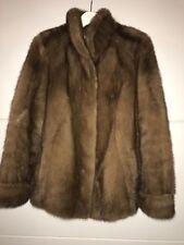 brown real mink coat