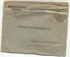 (425) Briefkuvert  Christian Wegmann Würzburg 1925 Gemeinde Reistenhausen