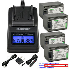 Kastar Battery LCD Fast Charger for Sony NP-FP70 NP-FP71 Sony DCR-DVD755 DVD755
