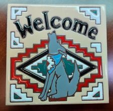 """New listing Earthtones """" Welcome to ny Home"""" Tile 1999 Native American Style"""