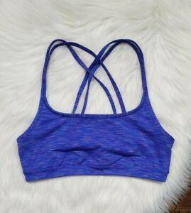 Athleta Women's Sports Bra Size Small Blue / Multicolored Stripe