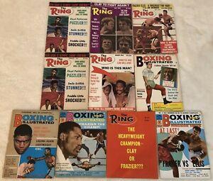 1969 1970 The Ring Set Lot of 10 CASSIUS CLAY Joe FRAIZER Jimmy Ellis QUARRY