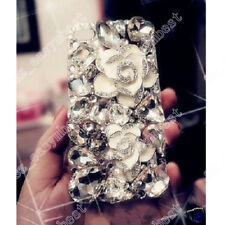 Jewelled Rhinestone Bling Crystal Diamond TPU+PC Clear Phone Case Cover Skin New