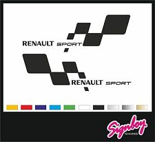 2x Renault Sport Car Vinyl Decals / Stickers / Graphics Fits Clio Megane RS etc.