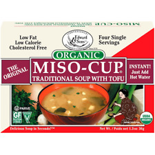 NEW EDWARD & SONS ORGANIC MISO CUP NATURAL/INSTANT VEGAN GLUTEN FREE DAILY CARE