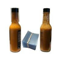 Clear 45x52 Heat Shrink Neck Wrap Band For Hot Sauce Bottles Tamper Seal