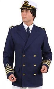 Kapitän Jacke Matrosen Kostüm Kapitäns Marine Uniform Seemann Offizier Admiral
