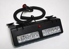 Red White LED visor Strobe Fire LightBar Emergency Warning  Deck Dash Car Flash