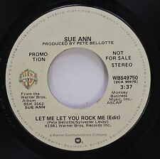 Hear! Modern Soul Promo 45 Sue Ann - Let Me Let You Rock Me / Same On Warner Bro