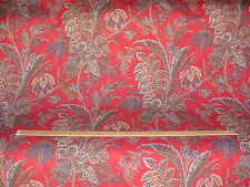 17-1/2Y EXQUISITE COWTAN TOUT MANDALAY FLORAL LINEN DRAPERY UPHOLSTERY FABRIC