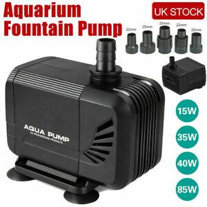 Submersible Motor Water Pump Small Fountain Outdoor Garden Fish Pond Adjustable