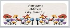 Personalized address labels Flowers Buy 3 get 1 free (xco 789)
