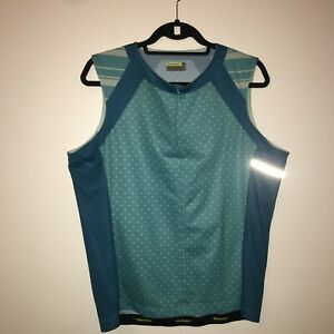 Novara Jo Cycling Jersey Women's XL Half Zip Sleeveless Blue 21-1785