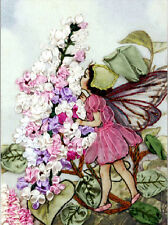 Ribbon Embroidery Kit Flower Fairy Angel and Flowers Needlework Craft Kit XZ1006
