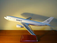 Large 1/100 MIDEX Airbus A300B4 Airplane Model with wooden stand