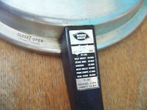 """MIRRO MATIC pressure cooker canning lid handle & screw ONLY vintage from 11"""" top"""