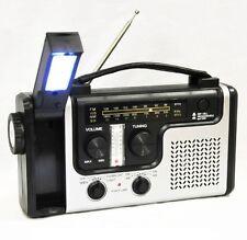 topAlert Emergency Solar Hand Crank Dynamo AM/FM/NOAA Weather Radio, Flashlight,