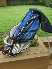 Mizuno Golf Carry Stand Bag with Rain Cover - Blue and Black