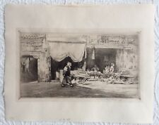 c. 1909 China Chinese original signed etching by Mortimer Menpes, born Australia