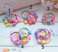 20Pcs Girls Hair Ties Band Candy Colored Hair Circle Baby Hair Rope Multi-Color