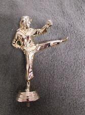 female karate topper lot of 9 trophy parts Pdu 527-G