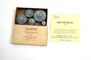 KEMPER Rose Cutter Set K50 vintage pottery craft molding tools in original box