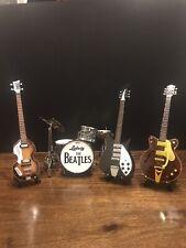 The Beatles Miniature Guitar and Drum Set,24cm Hofner, Gretch, Rickenbacker