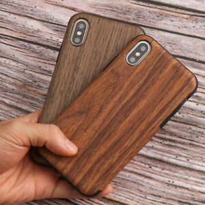 Natural Wooden Pattern Case For iPhone 6 7 8 XS Max XR 11 12 Soft Silicone Cover