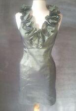 S. L. Fashions sz 6 Formal Sheath Dress Prom Christmas Dress Metallic Jade #A164