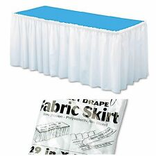"Table Set Linen Skirting Soft White 29"" x 14' Non Woven Polyester Wedding Party"