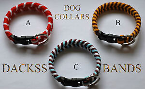 Hand Made 550 Paracord Rugby, Football, Cricket Dog Collars Welded D Shackle
