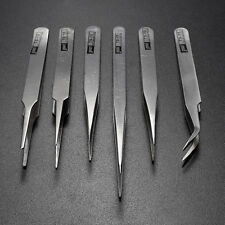 6 pcs All Purpose Precision Tweezer Set Stainless Steel Anti Static Tool Kit