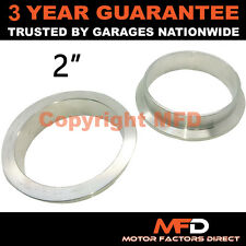 """V-BAND CLAMP STAINLESS STEEL EXHAUST TURBO HOSE REPLACEMENT FLANGES 2"""" 51mm"""