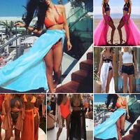 1*Lady Chiffon Beach Dress Swimwear Scarf Maxi Skirt Cover-Up Wrap Kaftan Sarong