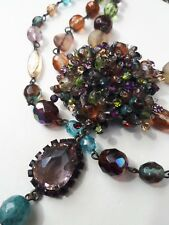 Stunning Cherry Chau multi stone necklace - excellent condition