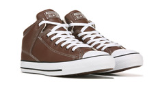 Converse Mens Chuck Taylor All Star High Street Brown Leather Sneaker Hi Top